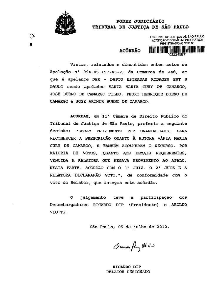 ÍSP>                        PODER JUDICIÁRIO                         TRIBUNAL DE JUSTIÇA DE SÃO PAULO                     ...