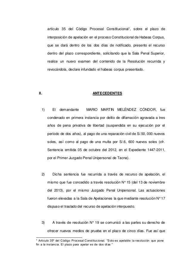 apelacion habeas corpus