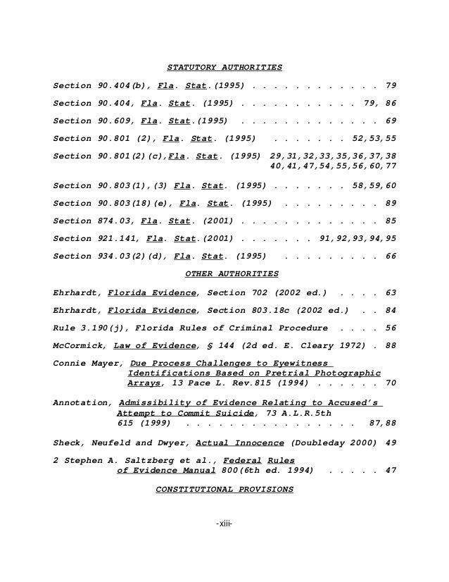Caso Pablo Ibar  Apelacion Tribunal Supremo Florida