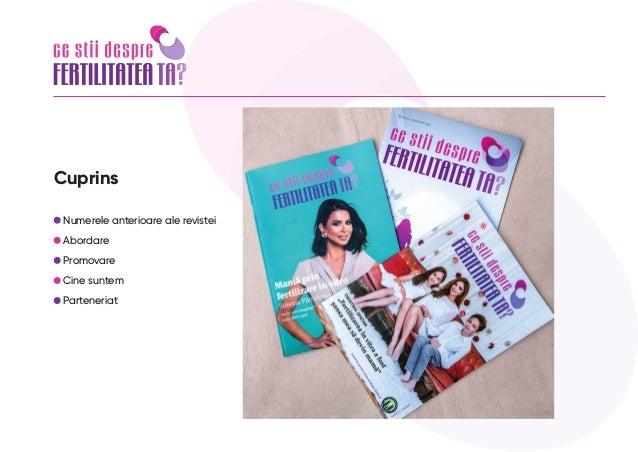 "Apel la parteneriat revista ""Ce stii despre fertilitatea ta"" nr. 4, 1 nov 2021 Slide 2"