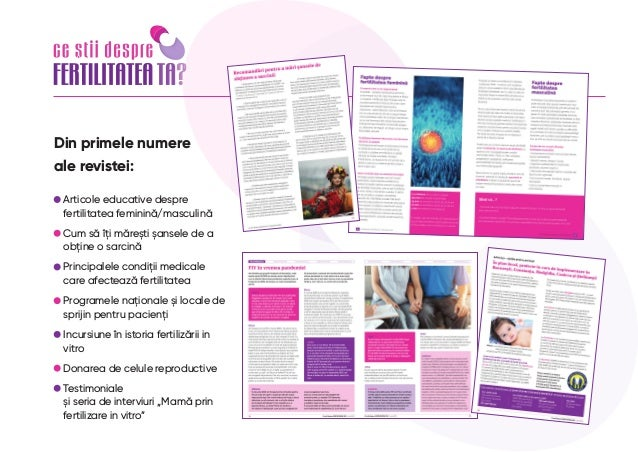 "Apel la parteneriat revista ""Ce stii despre fertilitatea ta"" nr. 4, 1 nov 2021 Slide 3"