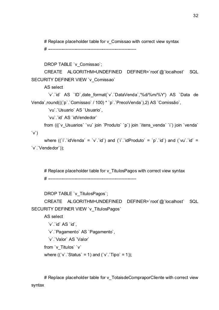 32         # Replace placeholder table for v_Comissao with correct view syntax         # ---------------------------------...