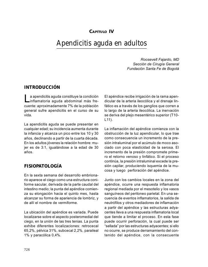GUÍAS PARA MANEJO DE URGENCIAS                                              CAPÍTULO IV                      Apendicitis a...