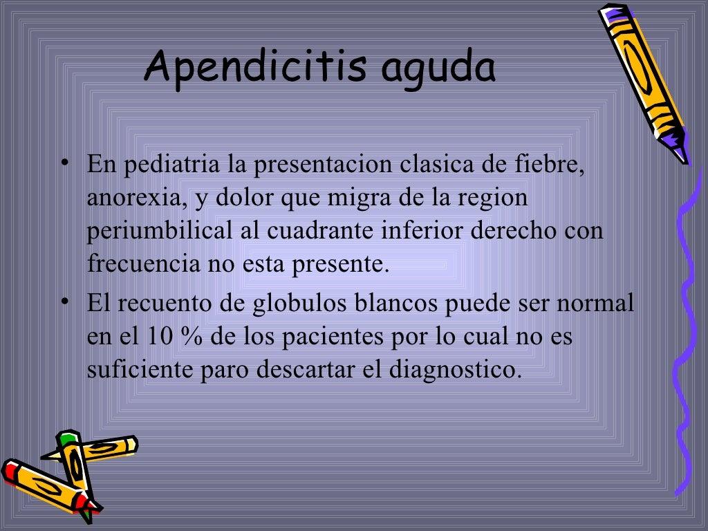 Apendicitis Aguda Dpto.Pediatria, Hosp.Escalante, Dr. De Franco page 15