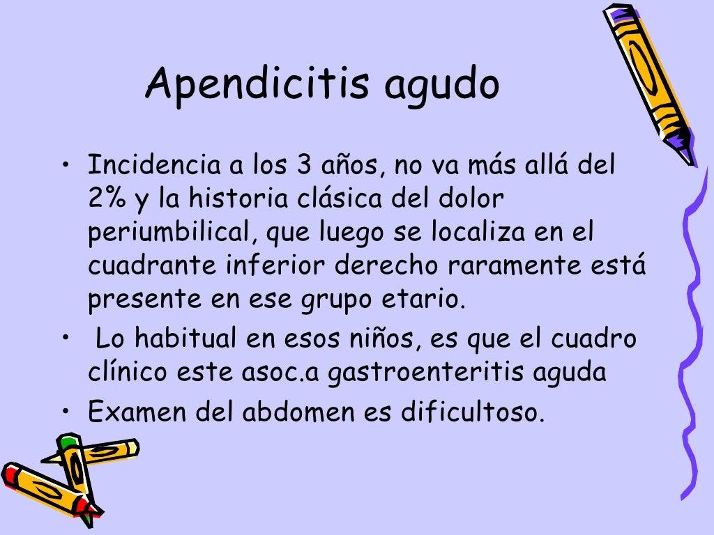 Apendicitis Aguda Dpto.Pediatria, Hosp.Escalante, Dr. De Franco page 3