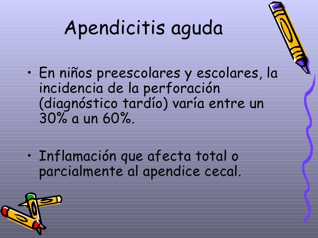 Apendicitis Aguda Dpto.Pediatria, Hosp.Escalante, Dr. De Franco page 4