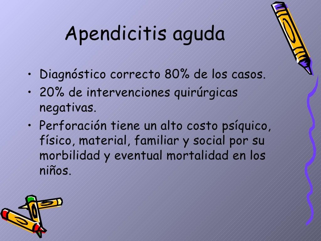 Apendicitis Aguda Dpto.Pediatria, Hosp.Escalante, Dr. De Franco page 8