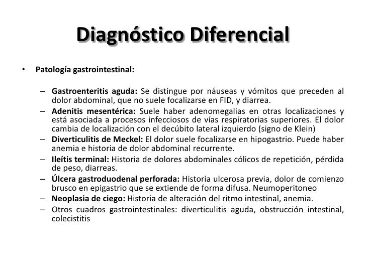 Tratamiento• APENDICECTOMÍA  – Abierta o por vía laparoscópica  – Laparoscopía:     • desventaja de tener mayor tiempo ope...