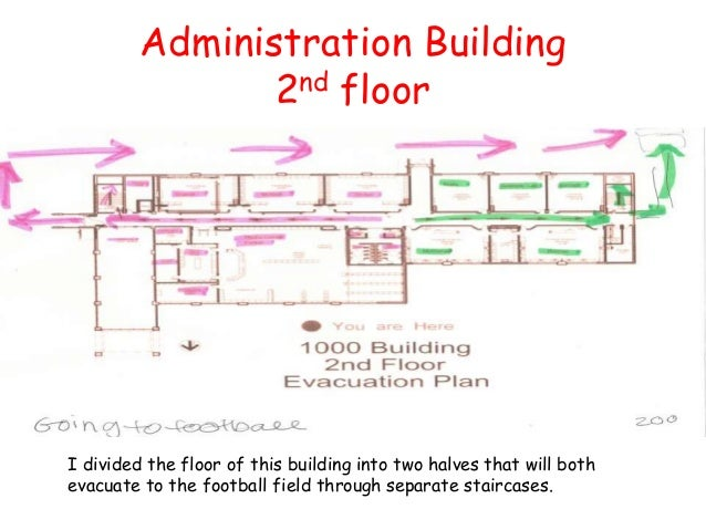 Ap english iii fire evacuation plan 2 for How to build a 2nd story floor