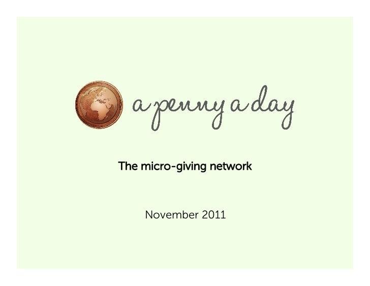 The micro-giving network    November 2011