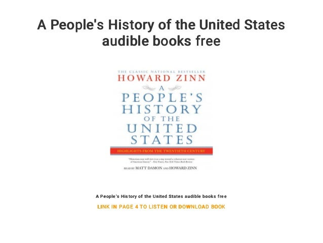 A Peoples History Of The United States Audible Books Free