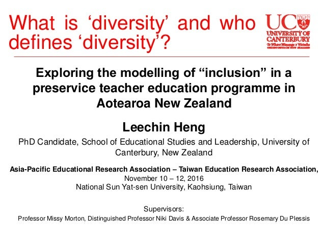 "Exploring the modelling of ""inclusion"" in a preservice teacher education programme in Aotearoa New Zealand Leechin Heng Ph..."