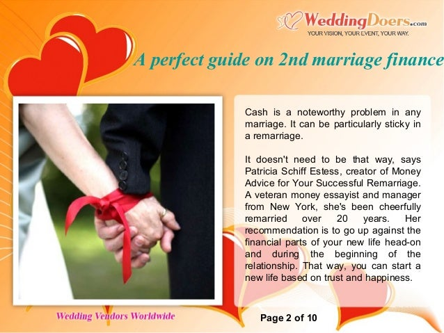 A Perfect Guide On 2nd Marriage Finance