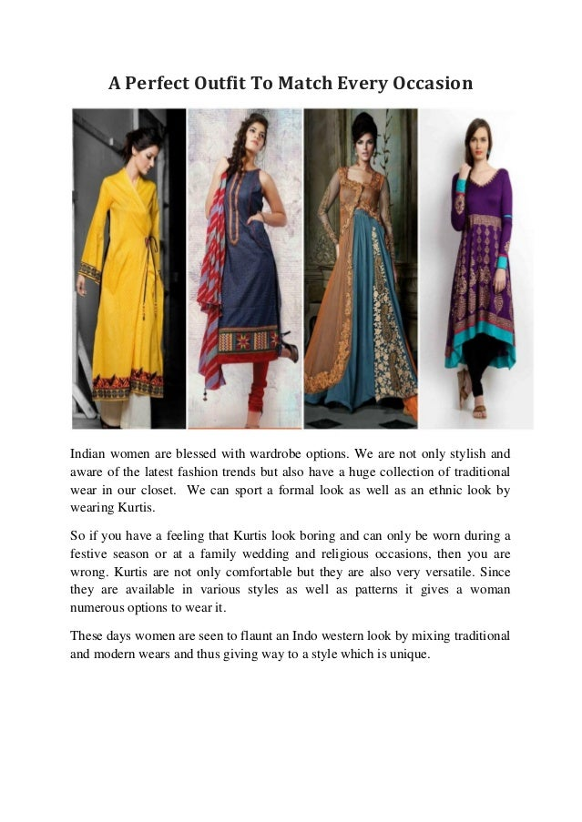 05a5e0346af Kurti - A Perfect Outfit To Match Every Occasion