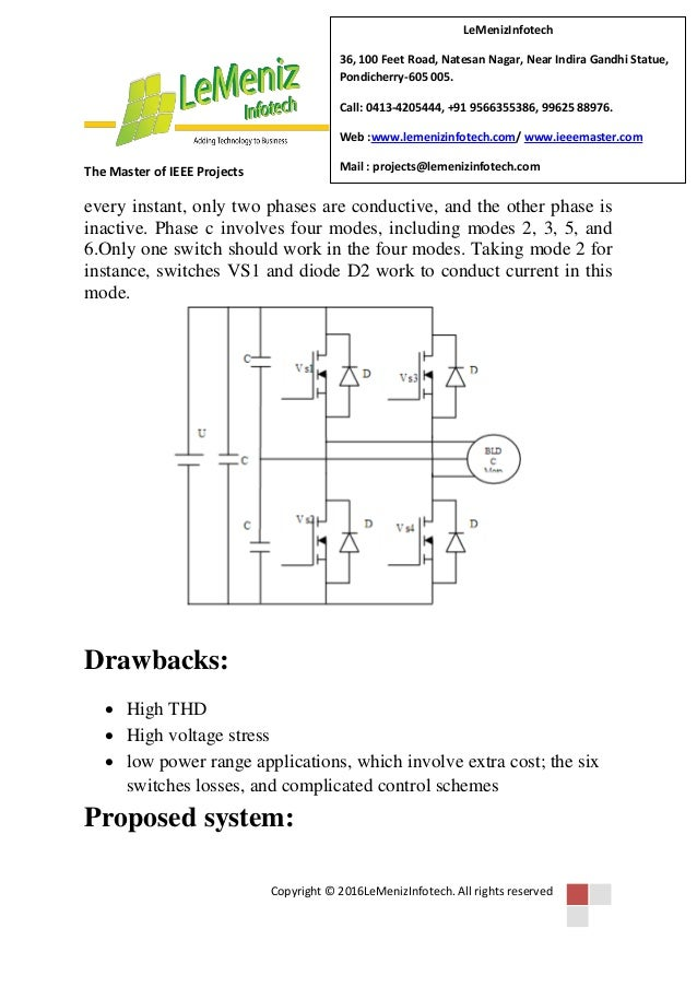 A performance investigation of a four switch three-phase inverter-fed…