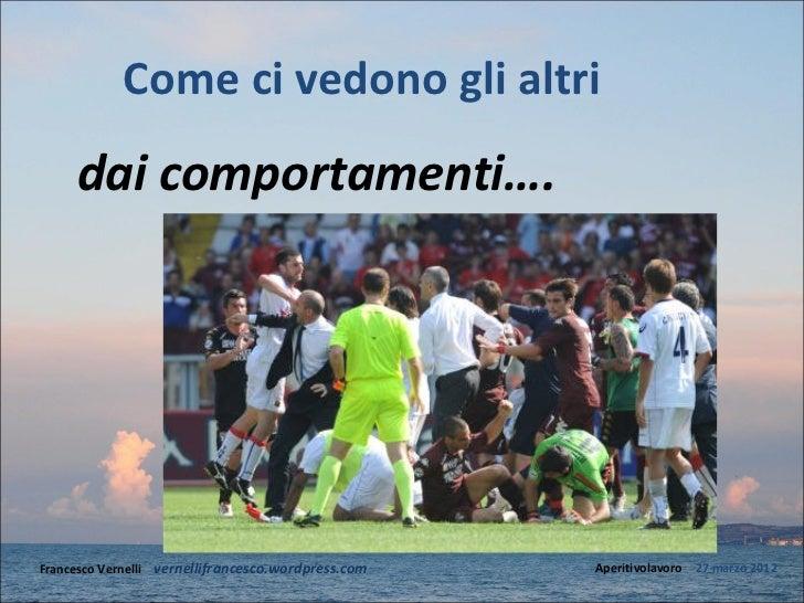 Come ci vedono gli altri     dai comportamenti….Francesco Vernelli – vernellifrancesco.wordpress.com   Aperitivolavoro – 2...