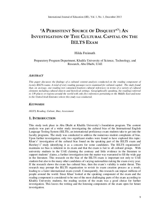 International Journal of Education (IJE), Vol. 1, No. 1, December 2013  'A PERSISTENT SOURCE OF DISQUIET'28: AN INVESTIGAT...