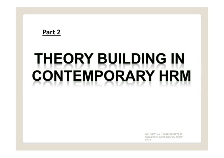 contemporary research in human capital theory The new growth theory has stressed the existence of strong externalities related  to human capital  4deutche bank research, (2005), human capital is the key to  growth, available at:  of the new, modern knowledge-based society 6 source:.