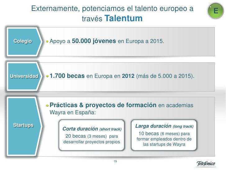 Externamente, potenciamos el talento europeo a                           E                      través Talentum Colegio   ...