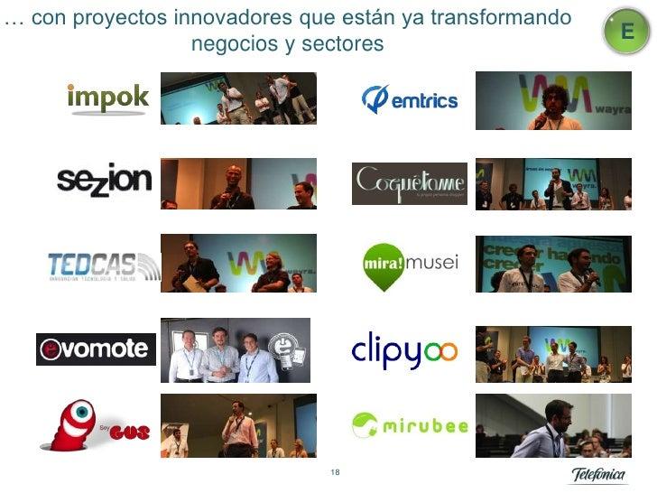 … con proyectos innovadores que están ya transformando                                                         E          ...