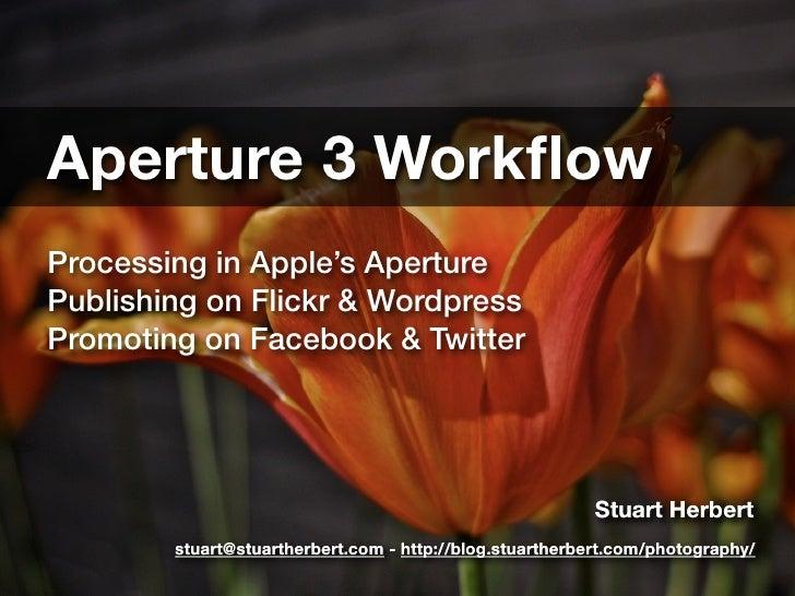 Aperture 3 workflow