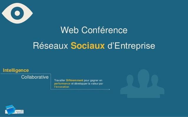 Web Conférence              Réseaux Sociaux d'EntrepriseIntelligence         Collaborative                         Travail...
