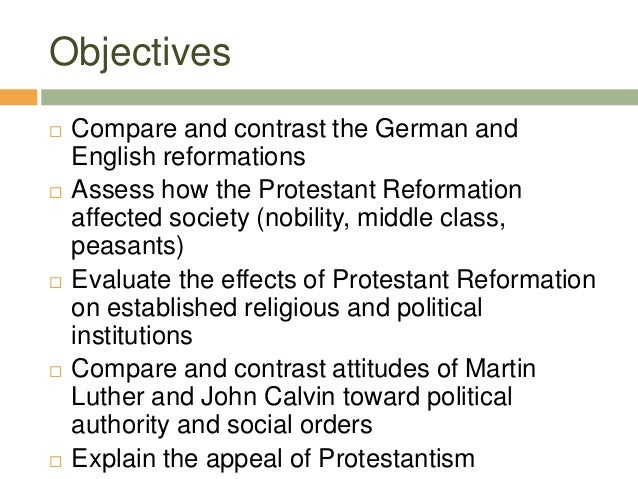 compare and contrast martin luther and john calvin essay John's father, gérard cauvin was 2018 » compare and contrast the attitu » martin luther and john.