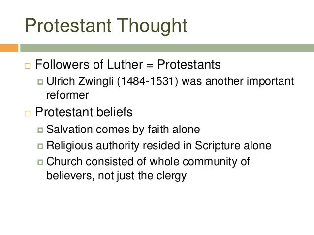 a comparison of martin luther and john calvin in being important protestant leaders Martin luther 's worship reforms  in contrast to reformed worship in the train of john calvin,  protestants need to become more informed about their leaders.
