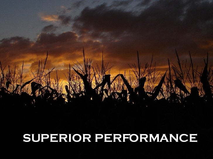 SUPERIOR PERFORMANCE