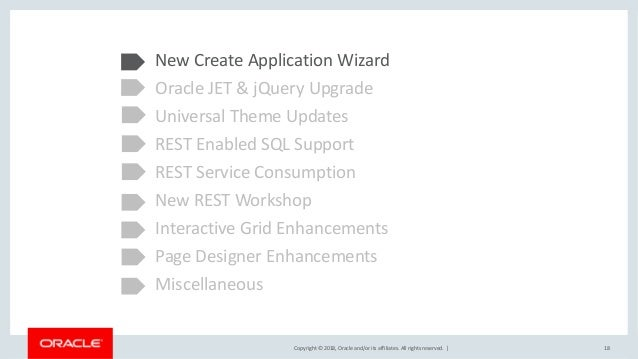 Oracle APEX 18 1 New Features