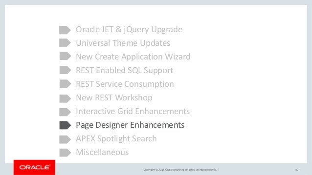 Oracle APEX 18.1 New Features