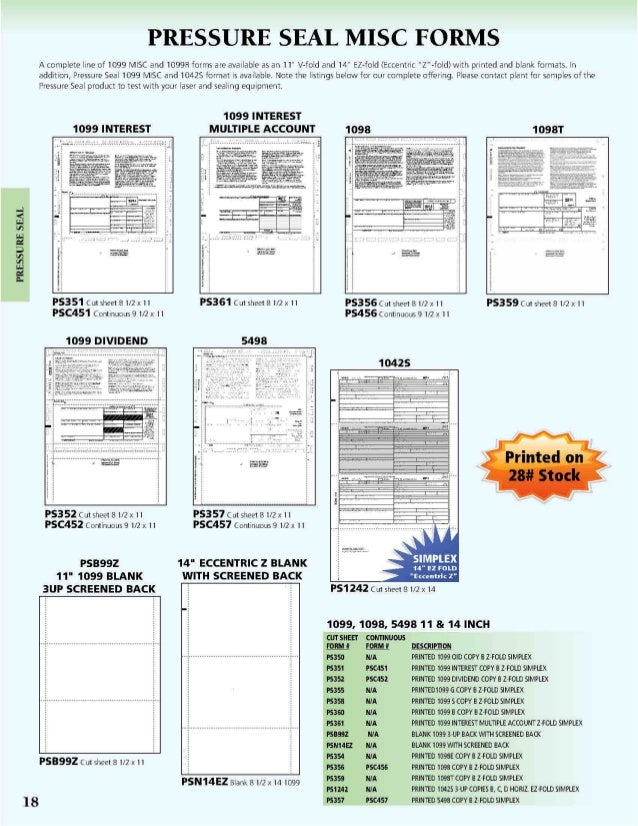 Tax Forms Catalog 2014