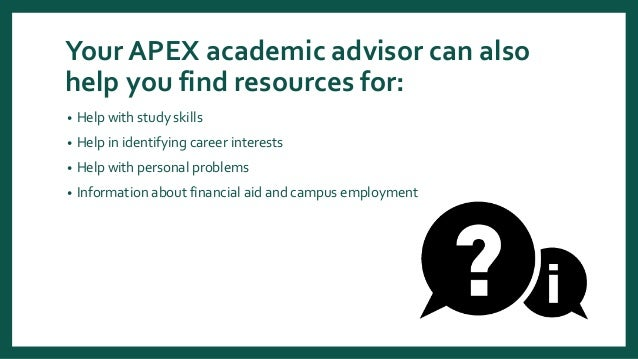 apex advising philosophy