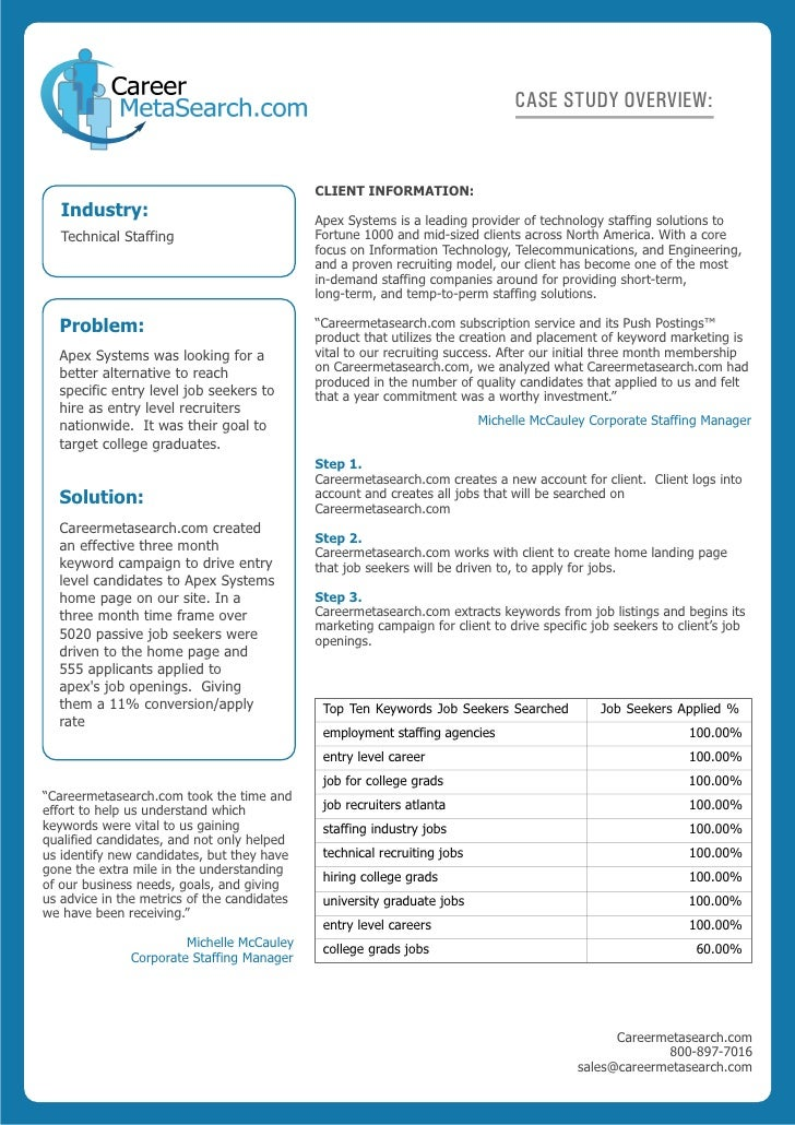 CASE STUDY OVERVIEW:                                                CLIENT INFORMATION:    Industry:                      ...