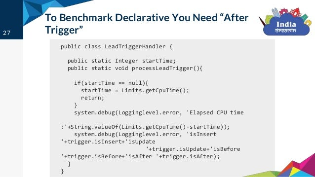 Apex code benchmarking