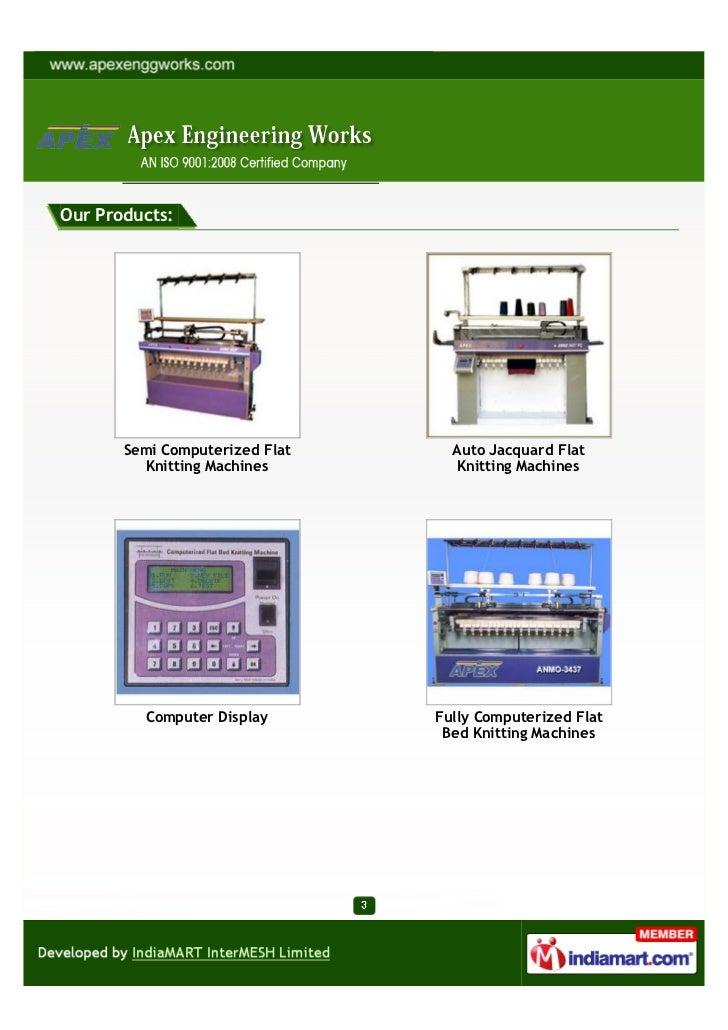 Apex Engineering Works Ludhiana Hand Knitting Machine
