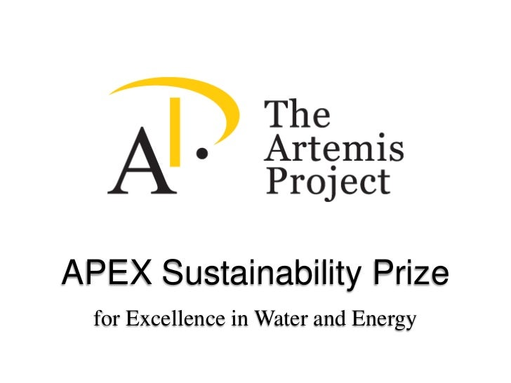 APEX Sustainability Prize<br />for Excellence in Water and Energy<br />