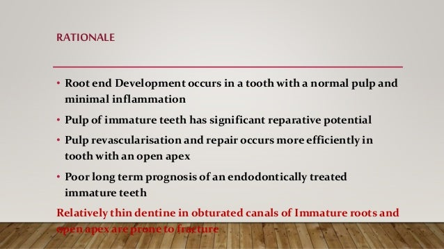 Apexification and Apexogenesis Slide 3