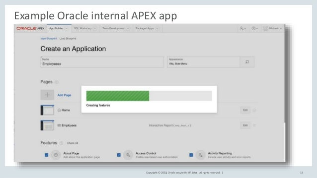 Oracle APEX Introduction (release 18 1)
