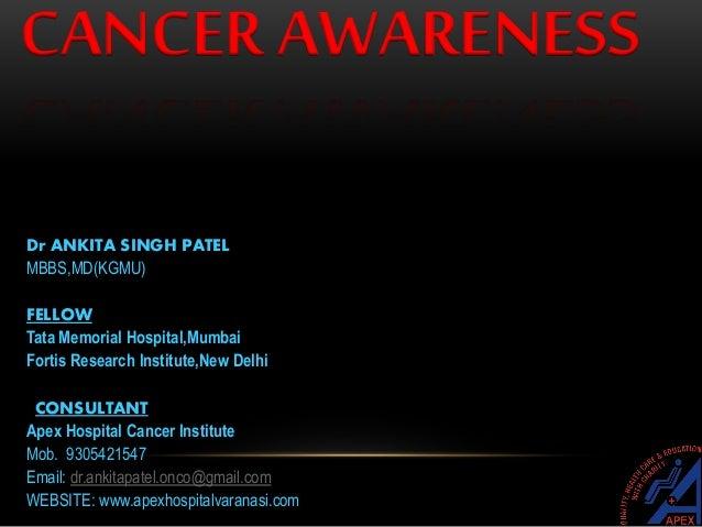 CANCER- AWARENESS  Slide 2