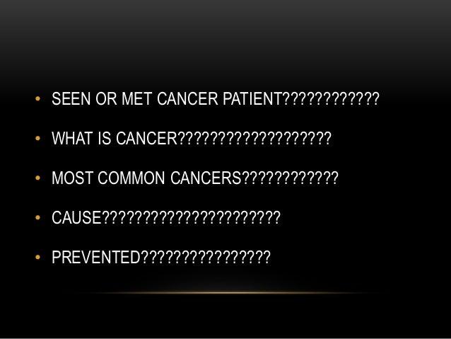 CANCER- AWARENESS  Slide 3