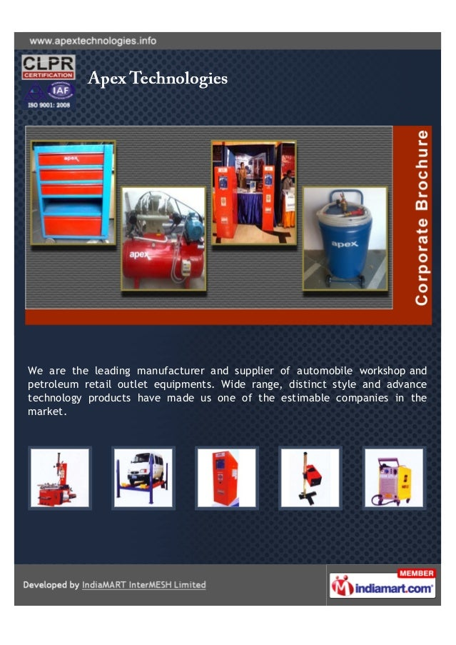 We are the leading manufacturer and supplier of automobile workshop andpetroleum retail outlet equipments. Wide range, dis...