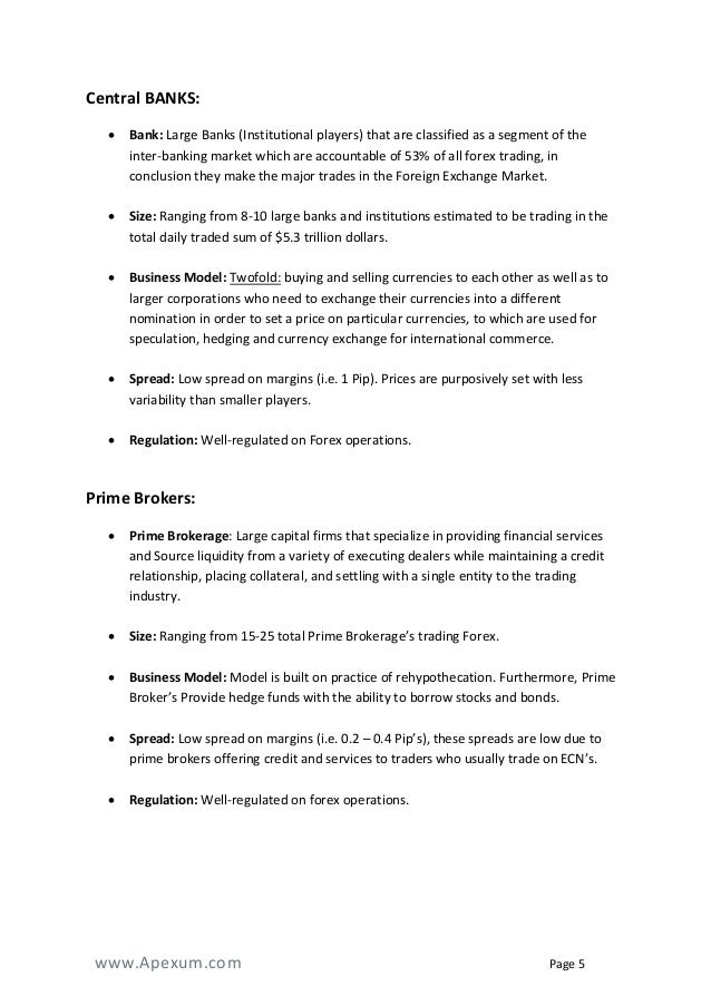 Forex company business plan