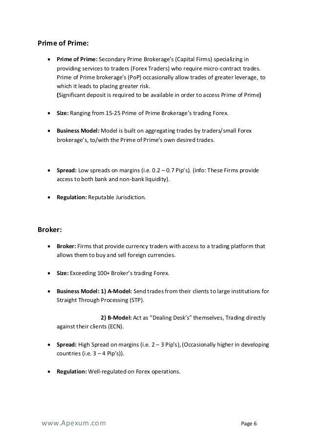 forex brokerage business plan