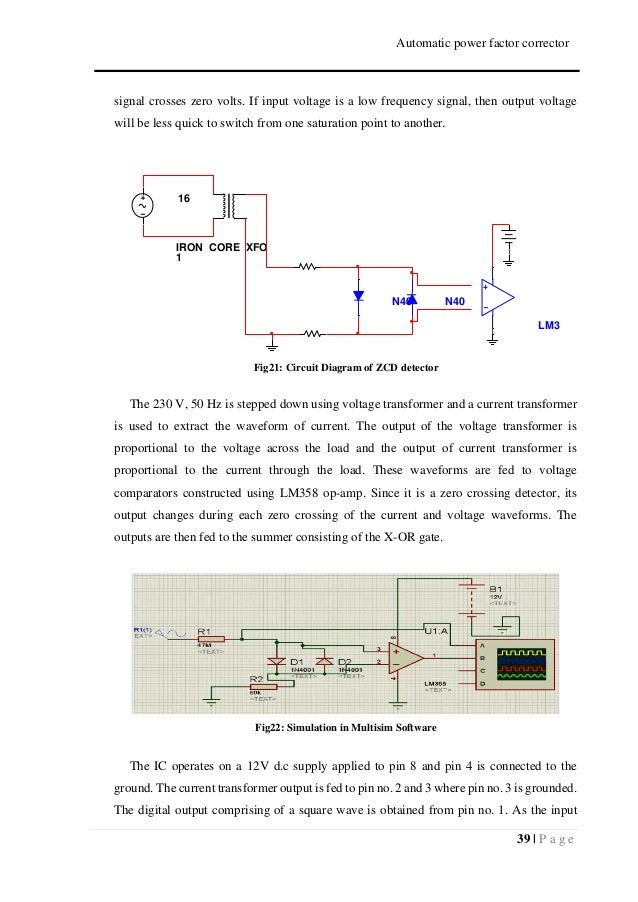 Automatic Power Factor Corrector Using Arduino Report