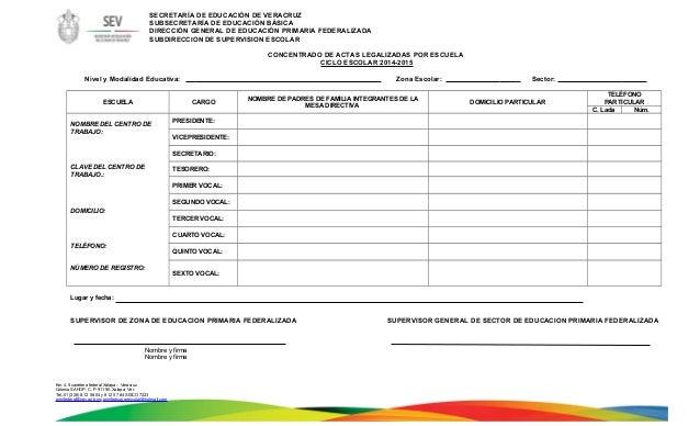 SECRETARÍA DE EDUCACIÓN DE VERACRUZ  SUBSECRETARÍA DE EDUCACIÓN BÁSICA  DIRECCIÓN GENERAL DE EDUCACIÓN PRIMARIA FEDERALIZA...