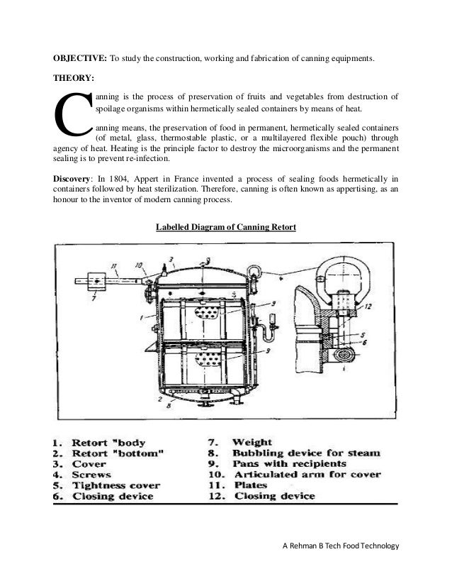 Canning Equipments Construction Working