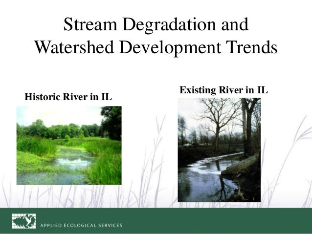 Stream Degradation and Watershed Development Trends Historic River in IL Existing River in IL