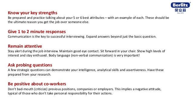 English tips for Job Interview - Berlitz Australia