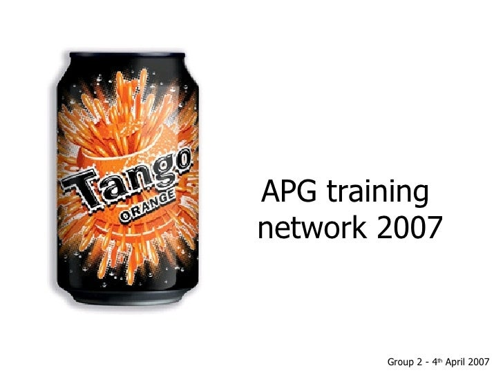 APG training  network 2007 Group 2 - 4 th  April 2007